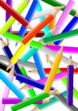 Colorful Pencils Chaos Backgound Stock Photo