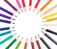 Colorful pencils in circle Stock Photo
