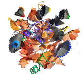 Colorful pencils clippings Royalty Free Stock Photos