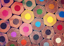 Colorful pencils. Close up, abstract background stock photography