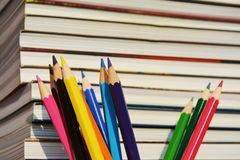 Colorful pencils, close up Royalty Free Stock Photography