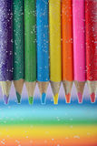 Colorful pencils close-up Royalty Free Stock Image