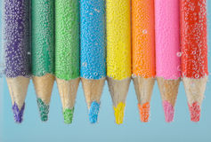 Colorful pencils close-up Stock Image