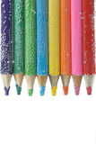 Colorful pencils close-up Royalty Free Stock Images