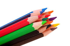 Colorful pencils in closeup Stock Image