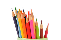 Colorful pencils closeup Royalty Free Stock Photos