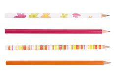 Colorful pencils collection for school children Royalty Free Stock Photos