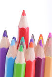Colorful of pencils in concept all for one Stock Image
