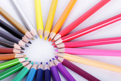 Colorful of pencils in concept all for one Stock Photo