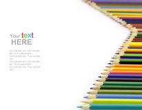 Colorful Pencils with copyspace Stock Photography