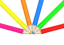 The colorful pencils Royalty Free Stock Photography