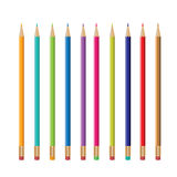 Colorful pencils design, pencil vector Stock Images