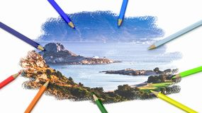 Free Colorful Pencils Drawing A Picture Stock Photo - 124102650