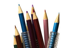 Colorful pencils on focus Royalty Free Stock Image