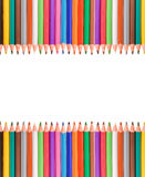 Colorful pencils frame Stock Image