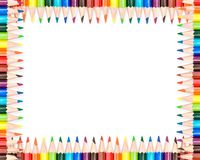 Colorful pencils frame Royalty Free Stock Photo