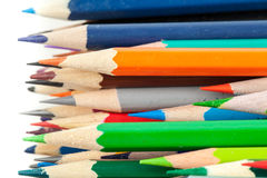 Colorful pencils. Horizontal macro photo Stock Photography