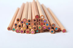 Colorful pencils isolated Royalty Free Stock Image
