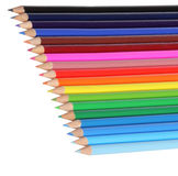 Colorful pencils, isolated Stock Photos