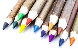 Colorful Pencils isolated on white royalty free stock photography