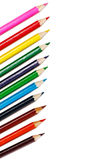 Colorful pencils isolated on white Royalty Free Stock Photos