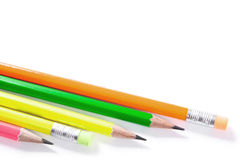 Colorful pencils, Lead pencils isolated on white Royalty Free Stock Photos