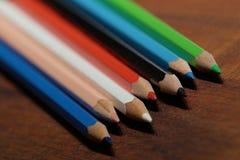 Colorful pencils Stock Photos
