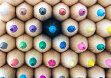 Colorful pencils macro Stock Photos