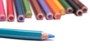 The colorful pencils Stock Images
