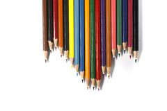 Colorful pencils. Office tools on white background Royalty Free Stock Photography