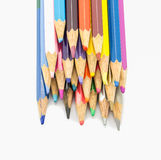 Colorful pencils in pail Stock Photos