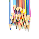 Colorful pencils in pail Stock Images