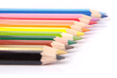 Colorful Pencils. Picture of Colorful Pencils in harmony Stock Photos