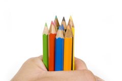 Colorful Pencils Set Royalty Free Stock Photography