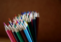 Colorful pencils. Pencils in several colors for painting Royalty Free Stock Photo