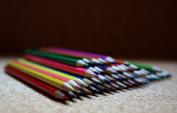 Colorful pencils. Pencils in several colors for painting Stock Images