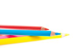 Colorful pencils with space for text Stock Photo