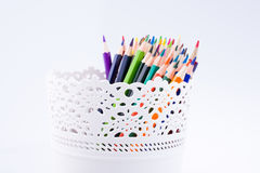 Colorful pencils in a vase Stock Image