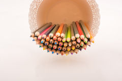 Colorful pencils in a vase Stock Photo