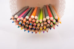Colorful pencils in a vase Royalty Free Stock Photo