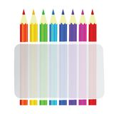 Colorful pencils vector background Royalty Free Stock Photos