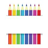 Colorful pencils vector background Stock Images