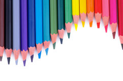 Colorful Pencils Wave Stock Images
