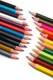Colorful pencils on white background royalty free stock photo