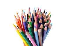 Colorful pencils. On white background Stock Photography