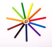 Colorful pencils. On white background Royalty Free Stock Image