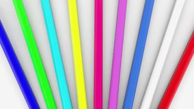 Colorful pencils on white. In backgrounds stock video footage