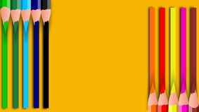 Free Colorful Pencils With Copy Space Isolated On Brown Background, Education Frame Concept. Vector Pencil Colors Background Art Style. Stock Photography - 185717832