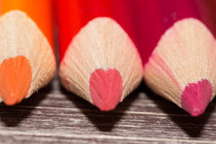 Colorful Pencils On Wooden Background stock photos