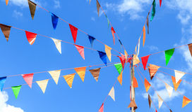 Colorful of pennants Royalty Free Stock Image